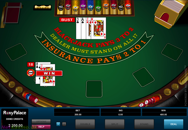 European blackjack fra Microgaming